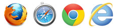 Firefox | Safari | Google Chrome | Internet Explorer